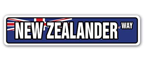 New Zealander Drapeau plaque de rue Équipe de Nouvelle-Zélande de Pride Country | Intérieur/extérieur | 45,7 cm de large