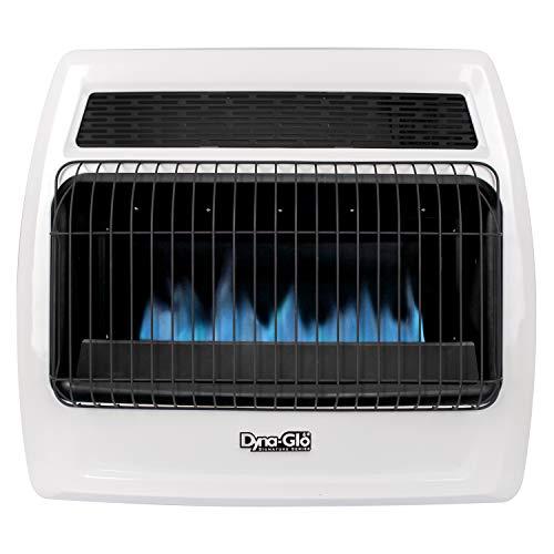 Dyna-Glo BFSS30LPT-2P 30,000 BTU Liquid Propane Blue Flame Thermostatic Vent Free Wall Heater, White