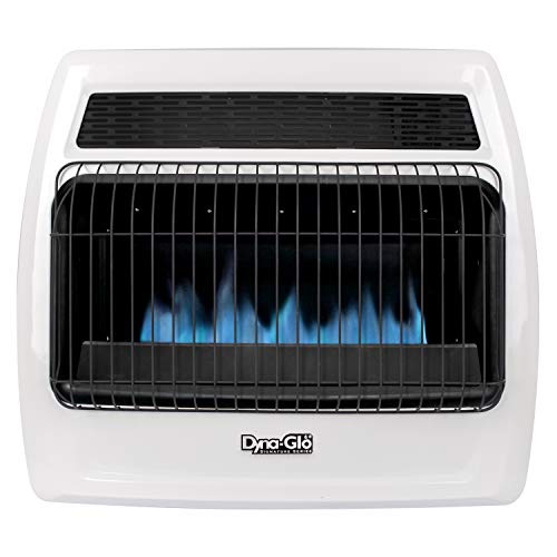 Dyna-Glo BFSS30LPT-2P 30,000 BTU Liquid Propane Blue Flame Thermostatic Vent Free Wall Heater, White