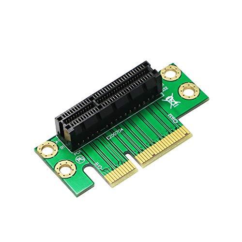 SinLoon PCIE 4X ライザーカード pci express x4 グラフィックボード PCI-エクスプレス テスト X4保護カード PCI-express X4スロット pcie ライザー 90° 直角アダプタライザーカード 1U / 2Uサーバーシャーシ用(PCIE X4 M-F)