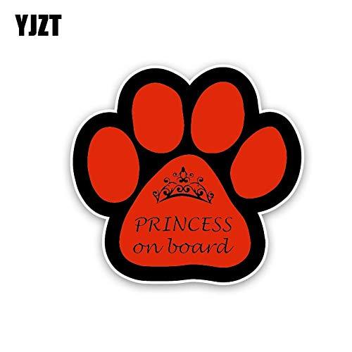 FAFPAY Car sticker 13.8cm * 13cm princess on board car sticker funny dog print pvc decal 12-40455