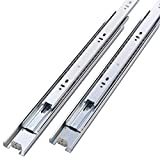 Friho 5 Pair of 22 Inch Hardware Ball Bearing Side Mount Drawer Slides, Full Extension, Available in 12'',14'',16'',18'',20'',22'' Lengths