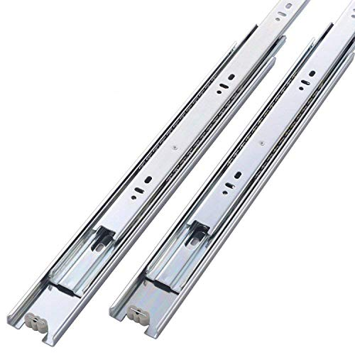 Friho 5 Pair of 12 Inch Hardware Ball Bearing Side Mount Drawer Slides, Full Extension, Available in 12,14,16,18,20 Lengths