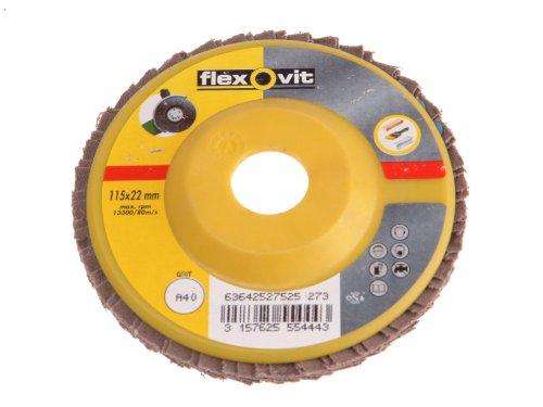 Flexovit fibasic replenishmente dos Disques abrasifs – 115 mm x 22 mm – CRS