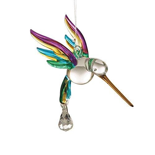 Fantasy Glass Hummingbird Suncatcher Rainbow