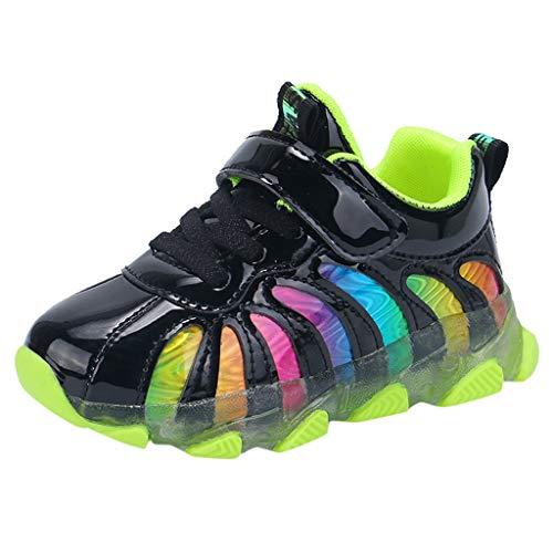Luckycat Zapatos para niños Bebé Fashion Star Sneaker Zapatos Ligeros para niños niños y niñas Zapatos radiantes de Colores Flash LED Zapatos para niños Tabla de luz Zapatos Ligeros
