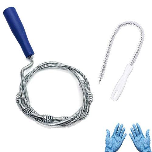 Flexibler Abflussreiniger für Badewanne, Waschbecken, Dusche, Waschbecken, Rohre, Spülbecken, Abflussreiniger, 1 Set