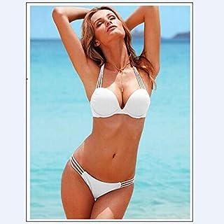 BEESCLOVER Black White Bikinis Set Women Swimwear Sexy Low Waist Solid Color Bathing Suits Woman Separates Bra Bottoms Swimsuit Brazilian