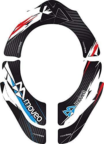 MOVEO   Sticker für den MOVEO Nackenschutz, Aufkleber kommen ohne Nackenschutz   Motocross Mountainbike MX MTB   Sticker für den MOVEO Neckbrace Concept   Schwarz