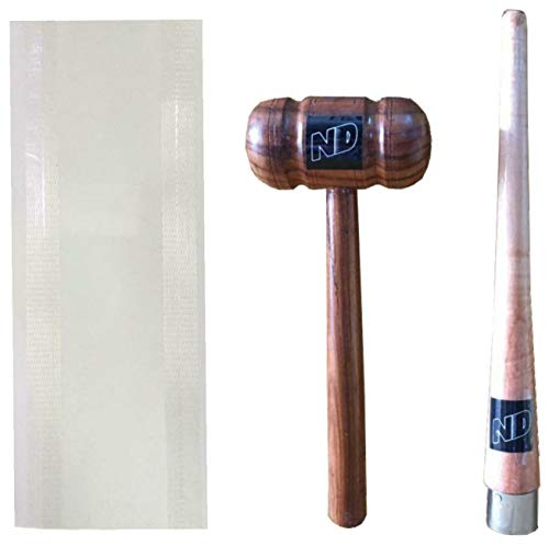 ND Sports OCP-Mallet+Cone+Sheet Cricketschläger-Reparatur-Set, Mehrfarbig, Einheitsgröße