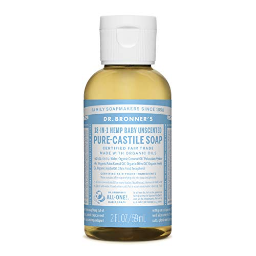 Dr. Bronner's - Pure-Castile Liquid Soap (Baby Unscented, 2 ounce)