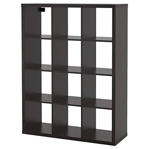 IK IKEA Kallax - Estantería de Color marrón y Negro, 112 x 147 cm