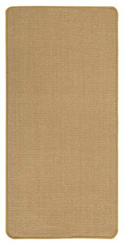 misento Sisal Teppich aus 100% Naturfaser Flachgewebe Webteppich uni, 50x80 cm