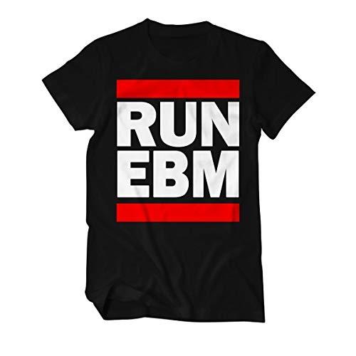 Run EBM - T-Shirt Herren L Schwarz