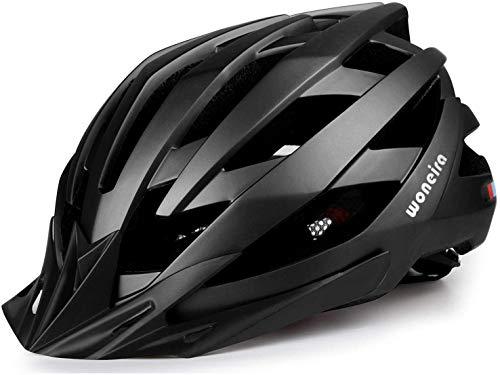 WONNEIRA Fahrradhelm, Fahrradhelm mit LED-Licht CPSC CE Zertifizierter Fahrradhelm für Erwachsene für Männer Damen Verstellbare Ultraleichte Stabile Mountain und Rennradhelme