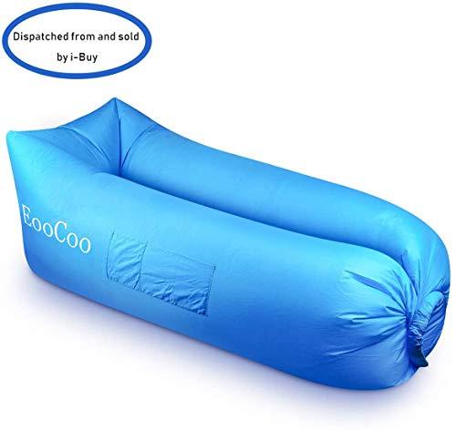 EooCoo Portable Aufblasbare Sofa, Wasserdichtes Liege Air Sofa für Camping, Park, Strand, Hinterhof, Angeln, Schwimmen