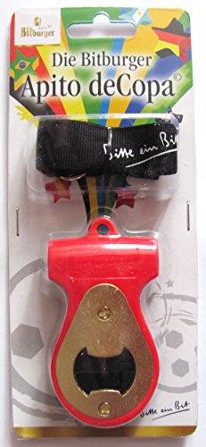 Bitburger - Apito deCopa - Schlüsselband mit Flaschenöffner und Pfeife