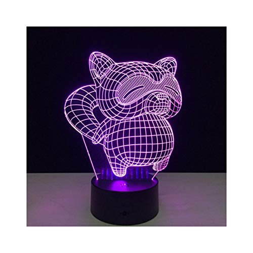 3D Gato Color Reemplazable Luz De Noche Led Luz Deslizante Botón Táctil Mesa Decoración del Hogar Lámpara De Mesa Niño Niña Fiesta Regalo De Cumpleaños