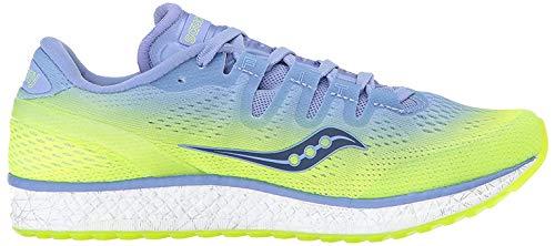 Saucony Women's Freedom ISO Running Shoe, Grey/Denim, 6.5 Medium US