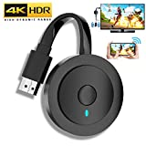 MPIO Wireless HDMI Display Adapter 4K HDR,WiFi HDMI Dongle inalámbrico Streaming Android/iOS/Window/Mac Laptop, teléfono, Tableta, PC a HDTV/Monitor/proyector (Compatible con Miracast, DLNA, Airplay)