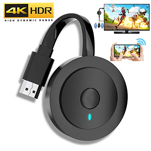 acheter avis Adaptateur d'affichage HDMI sans fil MPIO 4K HDR, Adaptateur d'affichage HDMI sans fil WiFi Récepteur Dongle 1080P Diffusion HDMI Android / iOS / Windows / Mac OS (prend en charge Miracast, DLNA, Airplay)