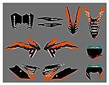 Zhbqcmou Equipo de Motocicleta Gráficos de los gráficos Pegatinas Fondos para KTM 125 200 250 300 450 500 500 Exc xcf xcw xcfw excuc 2014-2016 hnzhb