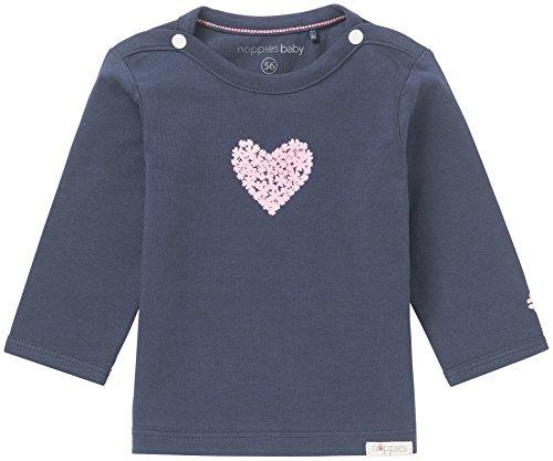 Noppies Baby-Mädchen G Tee ls Natick-67369 Langarmshirt, Blau (Navy C166), 62