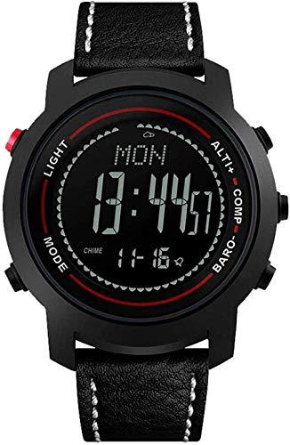 Reloj deportivo LED multifuncional para hombre con altímetro barómetro 50 m impermeable brújula función adecuada para aventura de montaña A-A-A A