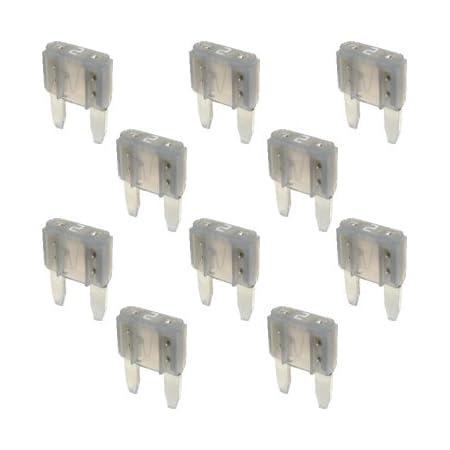 Remco 10 Flachstecksicherung Mini Sicherung 2a 32v Grau Sicherung Auto