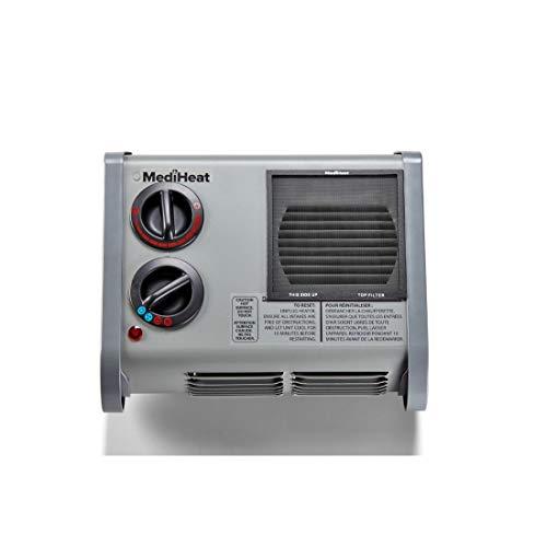 Caframo Calefactor eléctrico de Calf Hutch Calf Hutch Warmer con certificación MediHeat de 3 velocidades, hasta 1500 vatios y 5100 BTU/Hora, Enchufe a Tierra, Gris, 1 Unidad