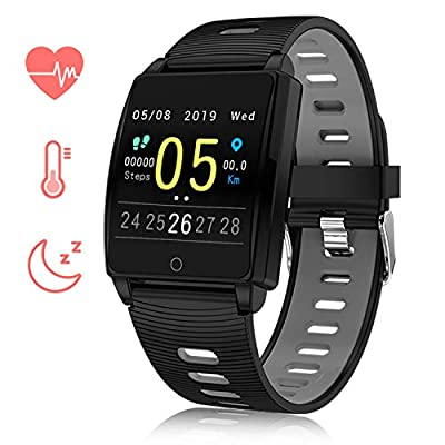 Smart Watch Fitness Tracker Activity Tracker Sports Smart Bracelet with Heart Rate Monitor Waterproof Bluetooth 1.3 inch Touch Screen Pedometer Sleep Monitor Calorie Counter Sports Smartwatch for Wom