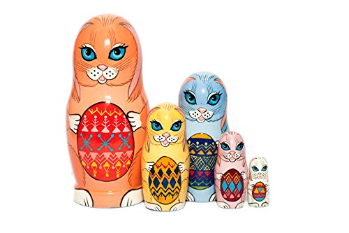 Easter Bunnies Nesting dolls - Nesting dolls for kids - Easter gift - Russian nesting doll - handmade - gift idea for kids - Stacking wooden toy - Montessori developing skills - Baby nursery decor