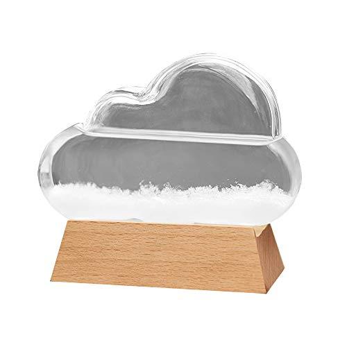 Not application Storm Glass Previsión meteorológica, estación meteorológica nube barómetro líquido lindo creativo decorativo tiempo predictor oficina escritorio hogar decoraciones creativas