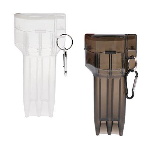 Toygogo Darts Tasche Hülle Dartpfeile Box Wallet Geldbörse Darthülle aus Kunststoff mit Karabinerhaken, 2er Set