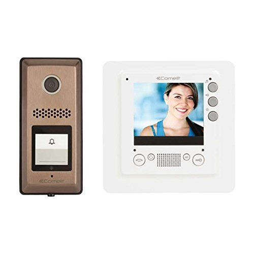 3.5 Video Intercom Kit with Slim Monitor by Comelit HFX-720MS by COMELIT