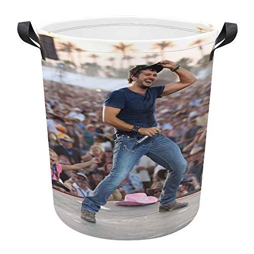 GTMRT Lu-ke Br-yan 17.3 Inches Large Laundry Basket - Drawstring Waterproof Round Foldable Laundry Hamper Bucket for Bathroom,Toys and Clothing Organization