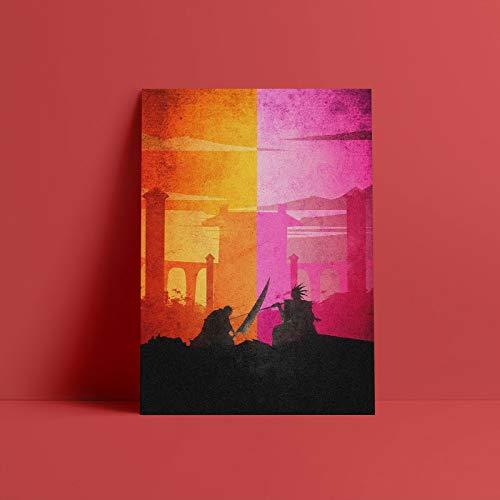 Bleach Ichigo vs Zaraki cartel lienzo pared arte decoración impresiones para vivir chico niños habitación hogar dormitorio decoración pintura-Pintura de Diamante 5D de bricolaje-Regalo de Navidad