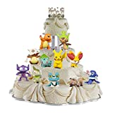 24 Piezas Pikachu Cake Topper Hanel-Pikachu Tarta Decoración Niños Mini Muñeca Hecha a Mano Shower Fiesta Cumpleaños Pastel Decoración Suministros