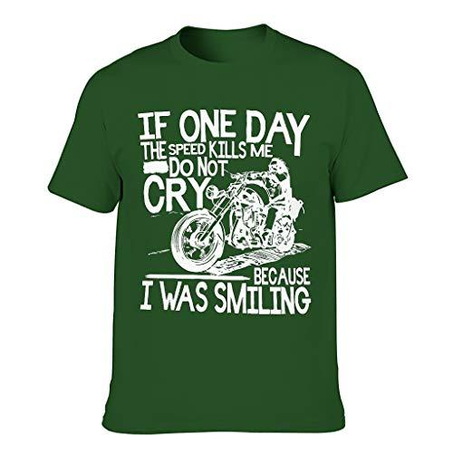 Camiseta de algodón para hombre, diseño de motocicleta con texto en inglés 'If One Day'