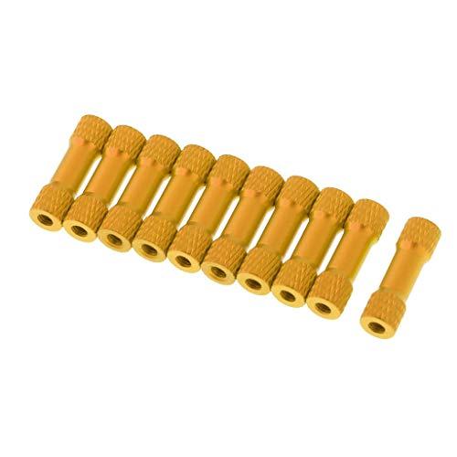 zmigrapddn RC parti di ricambio 10x distanziale distanziale in alluminio striato M3 20 millimetri per RC Multirotor, RC accessori di ricambio (colore : oro)