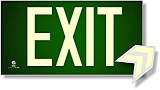 Photoluminescent Exit Sign Green - Aluminum Code Approved Aluminum UL 924 / IBC / NFPA 101