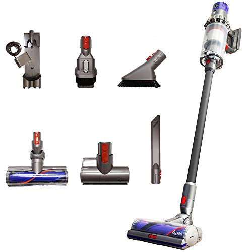 Dyson Cyclone V10 Total Clean+ with Mini Motorized Tool and Mini Soft Dusting Brush, Cord-Free Stick Vacuum Cleaner, Lightweight, Cordless