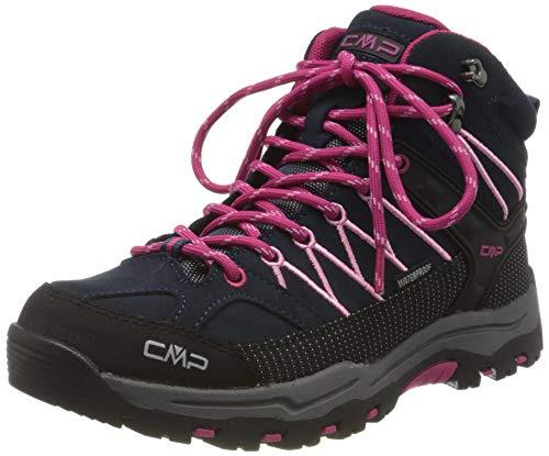 CMP Unisex-Kinder Kids Rigel Mid Shoe Wp Trekking- & Wanderstiefel, Blau (B.Blue-Rose 80bn), 32 EU