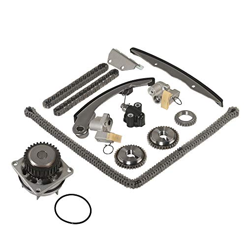 Mplus 9-0719S Timing Chain Kit with Water Pump Replace 2005-2015 for Nissan Frontier / 2012-2015 for Nissan NV1500 NV2500 NV3500 / 2005-2012 for Nissan Pathfinder Xterra 4L V6 DOHC 24V VQ40DE