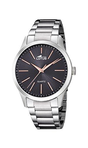 Lotus Watches Reloj Análogo clásico para Hombre de Cuarzo con Correa en Acero Inoxidable 15959/9