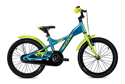 "S\'Cool XXlite Alloy 18R 1S Kinder Mountain Bike (18"", Blau/Grün)"