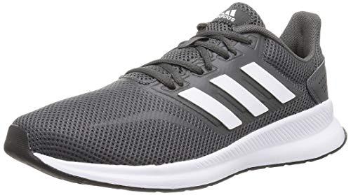 adidas Herren Falcon Laufschuhe,Grau (Grey/Footwear White/Core Black 0),46 2/3 EU