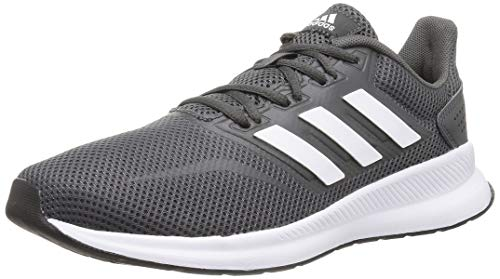 adidas Runfalcon, Zapatillas de Running para Hombre, Gris (Grey Six/ Footwear White/ Core Black), 41 1/3 EU