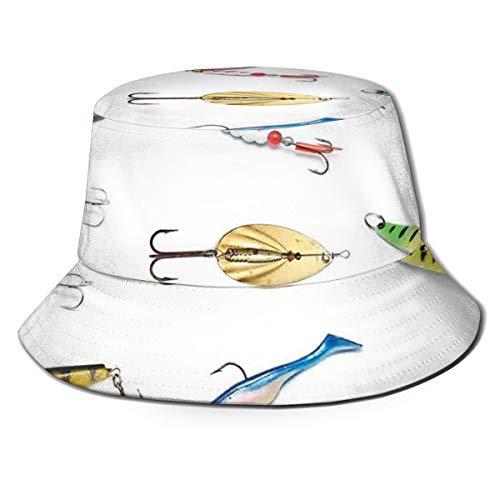 SUHETI Chapeau de Brousse Rond pour,Plusieurs Objets d'équipement de hameçon Pêche à la traîne Filet Pêche Activité de Collecte,pêcheur Chapeau de Protection Solaire pour Loisirs extérieurs