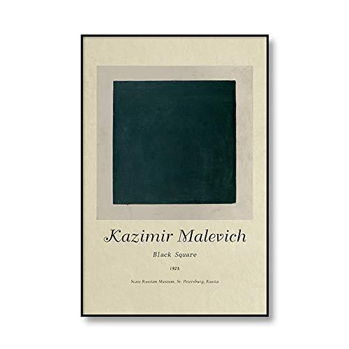 Famoso Kazimir Malevich geométrico abstracto cartel impresión lienzo Retro muebles para el hogar lienzo sin marco pintura A3 50x75cm